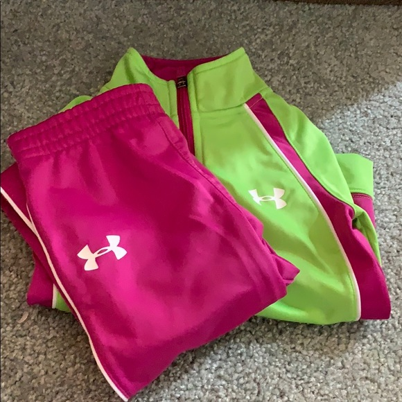 Girls size 5 Under Armour Track Suit
